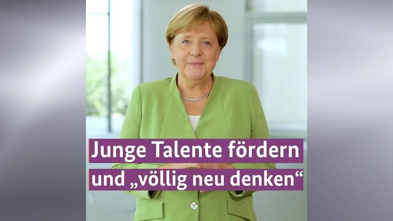 Kanzlerin Merkel unterstützt Wettbewerb Jugend forscht