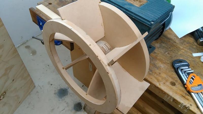Cyclone separator dust extractor build: impeller