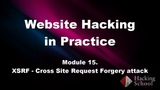 Hacking School. Взлом сайтов. Атаки XSS. Модуль_15. XSRF - Межсайтовая подделка запроса