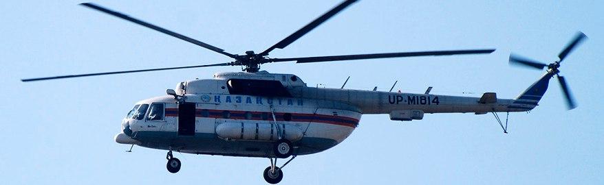 В Казахстане пилот посадил военный вертолёт на трассу, чтобы спросить дорогу