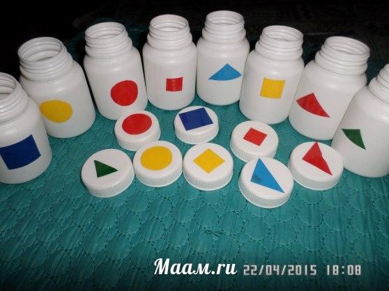 Озорные баночки воспитателя Оксаны Шаповаловой решают множество развивающих задач…. (1 фото) - картинка