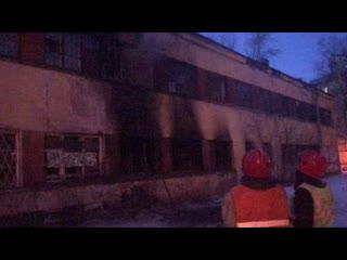 Пожар в здании ветклиники на Лесном проспекте