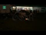 ФАН публикует видео крупного ДТП на АЗС в Москве