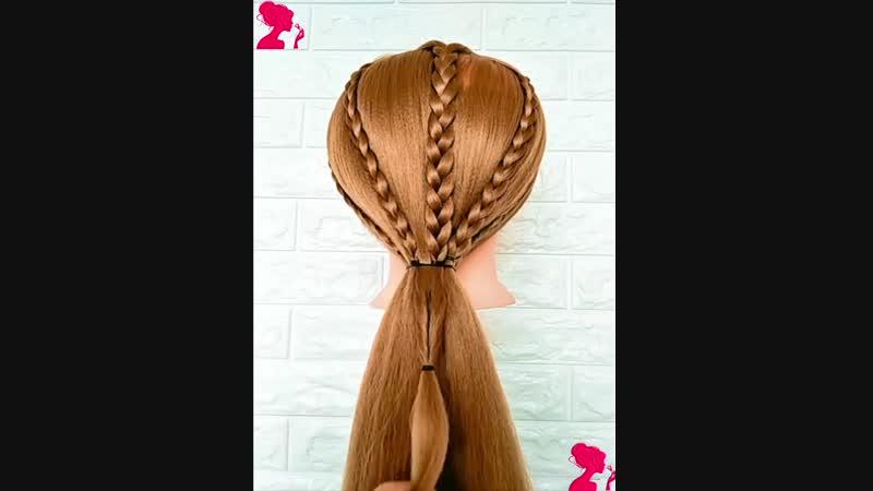 5 оригинальных идей как подобрать волосы в хвост