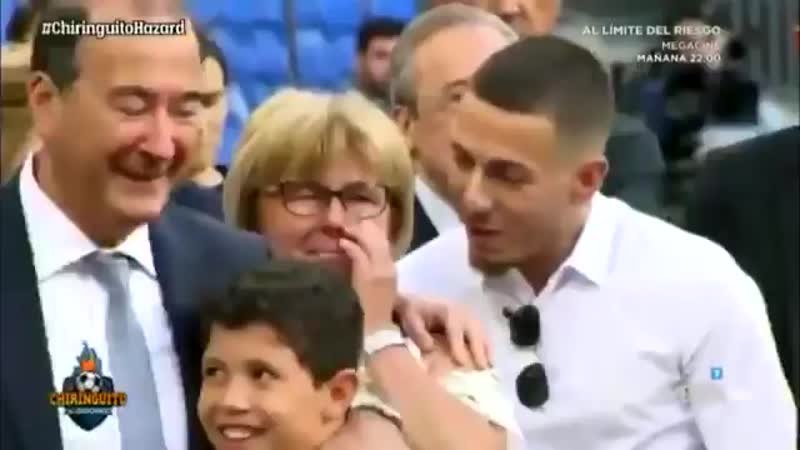 Hazards mother couldnt hold back the tears as her son completes the dream move to Real Madrid ️ mp4