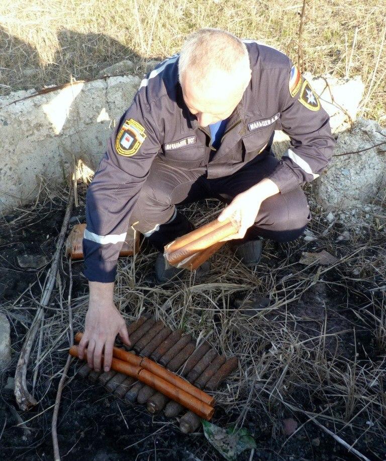 В Ростовской области обнаружили ящик с гранатами