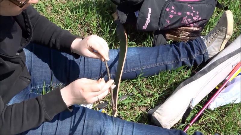 Глушилки на тетиве для лука Первый эксперимент как это сделано