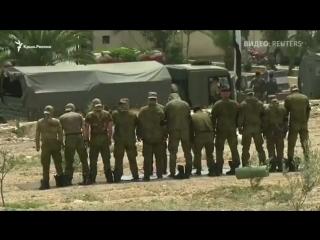 Larmée russe est entrée dans la ville Dumayr apres avoir conclu un accord avec les terroristes...La ville passe sous le contrôle