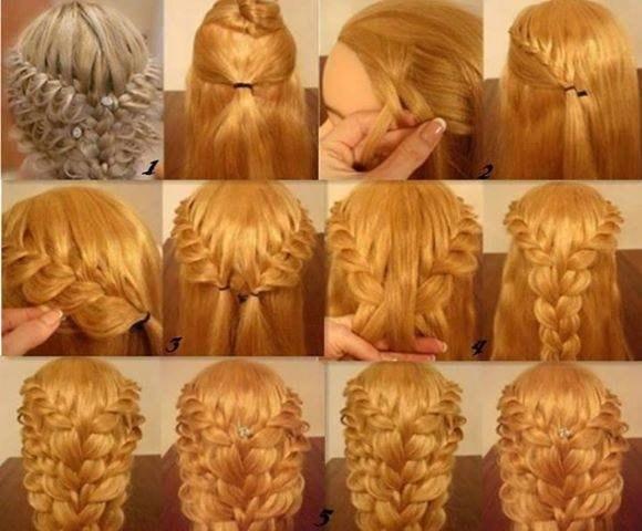 Плетение кос на себе поэтапно