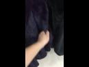 Люкс мех черничный цвет