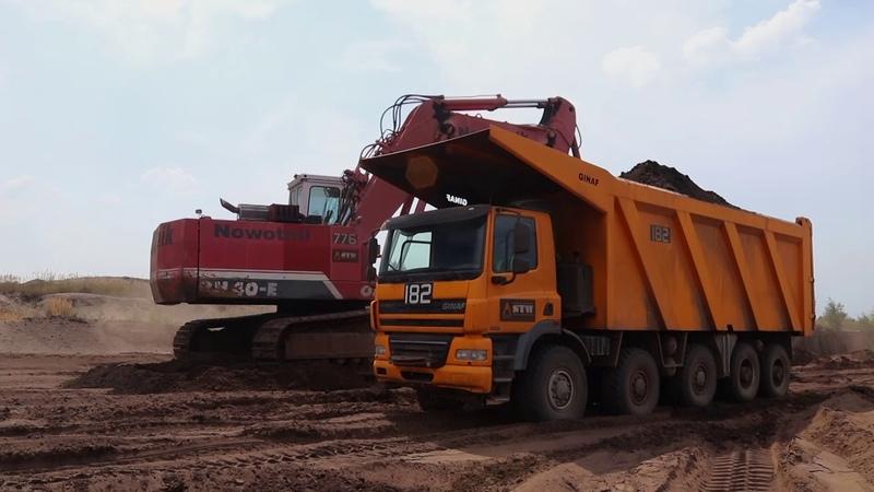 LAUSITZ OK RH40 E (Teil 1.) Ginaf Caterpillar D11 Renaturierung Mass Excavator