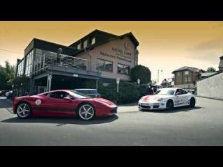 Watch this: Porsche GT3RS Sabine Schmitz vs Ferrari 458 Italia Ron Simons - Nurburgring