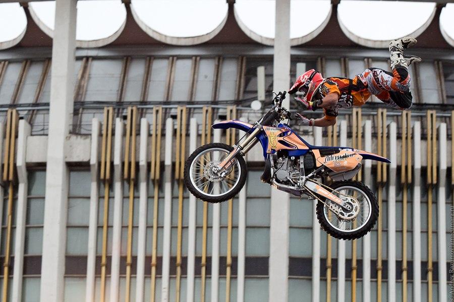 FMX stuntriting show cтантрайдинг мото