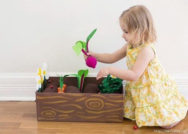 Фетровая грядка для детей своими руками… (9 фото) - картинка