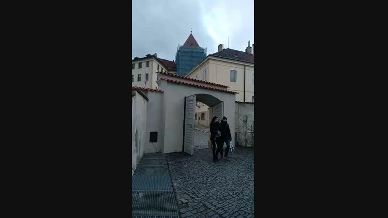 Вся Прага как на ладони.Смотровая площадка в Пражском граде