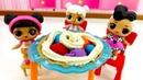 Spielzeugvideo für Kinder. Die LOL Puppen spielen mit PlayDoh. Knete Ideen