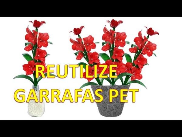 DIY/REUTILIZE GARRAFA PET/ARTE com PET