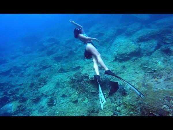 Freediving Warm-up at Racha Island, Phuket, Thailand