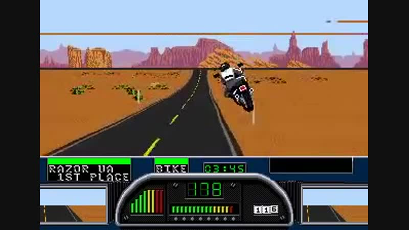 Road Rash 2 Final Races. SEGA. [WR] Мировой рекорд 07-59