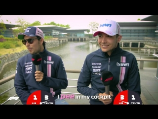 Force Indias Sergio Perez and Esteban Ocon _ Grill the Grid_ Truth or Lie