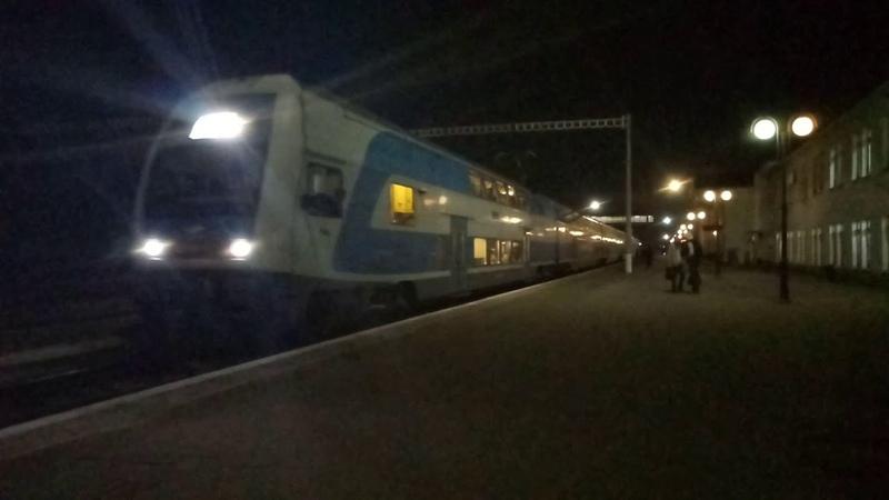 Электропоезд EJ675-001 поезд №721 Харьков-Киев отправление со станции Полтава-Киевская