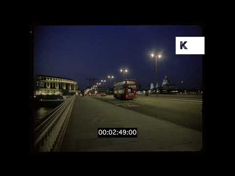 Early 1990s London at Dusk, South Bank, Waterloo, HD