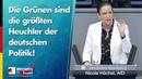 Die Grünen sind die größten Heuchler der deutschen Politik Nicole Höchst AfD Fraktion