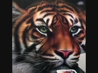 Шедевральный рисунок тигра