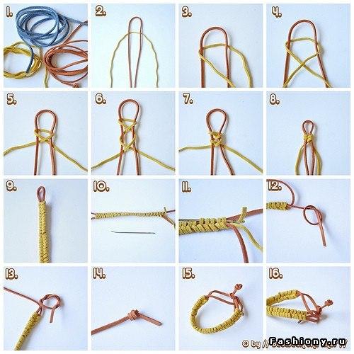 Плетения разных браслетов