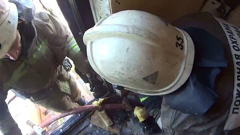 ул Подгорная 13 замыкание электропроводки с последующим горением