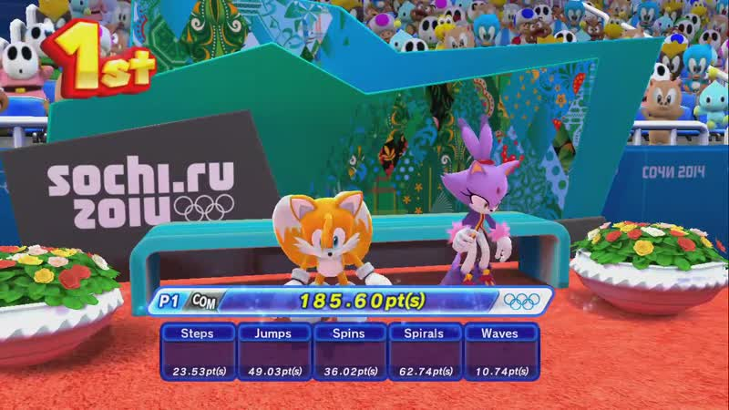 TAILAZE GAME Mario and Sonic At The Sochi 2014 Olympic Winter Games Figure Skating Pairs
