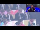 Wanna One &amp BTS reaction to Lovelyz &amp No Brain
