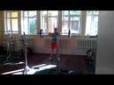 Тяжёлая атлетика Злата Карабань,толчок со стоек 70 кг