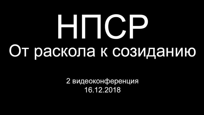 НПСР От раскола к созиданию. Видеоконференция 16.12.2018.