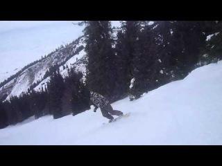Сноубординг в Киргизии Каракол январь 2014