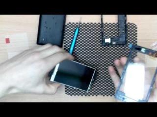 Ремонт телефонов в Украине. Как заменить сенсор на телефоне Nokia 520 разборка