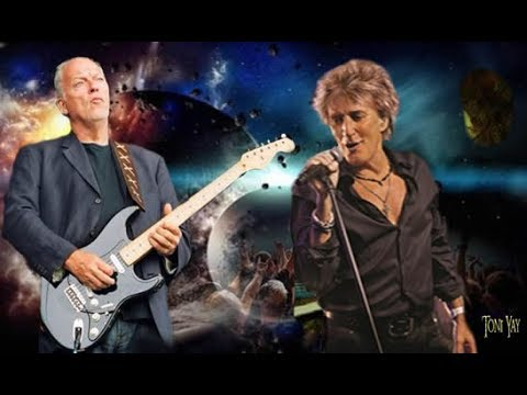 David Gilmour With Rod Stewart ❀ In a Broken Dream ☆HD☆