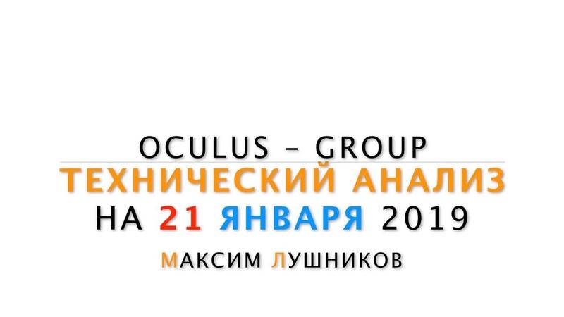Технический обзор рынка Форекс на 21.01.2019 от Максима Лушникова