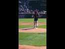 Kanye West Throws First Pitch at White Sox Game With Saint
