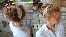 Как сделать высокий пучок Свадебная прическа Updo Wedding