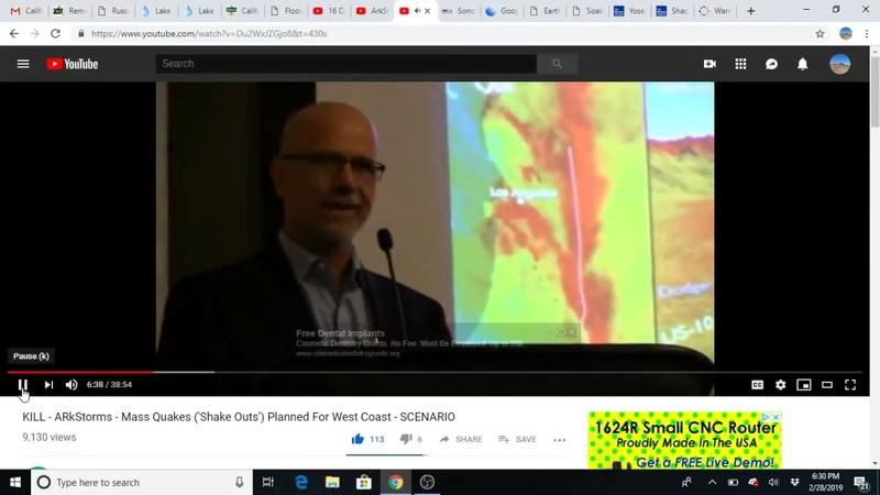 Wetteralarm in Kalifornien - deep state HAARP