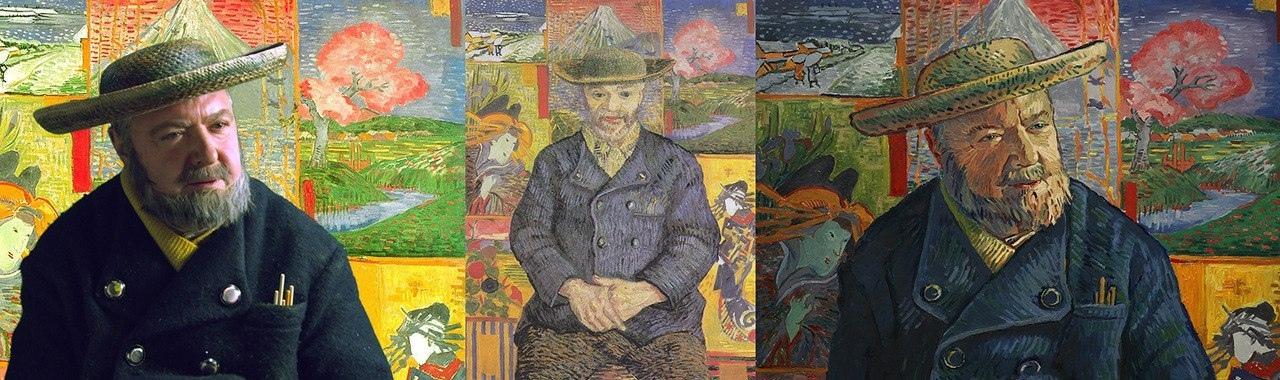 Трансформация актеров в персонажей картин Винсента ван Гога в фильме Loving Vincent