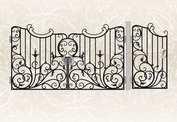 Кованые ворота эскизы и фото