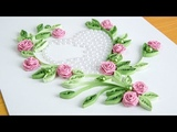 Paper Quilling Heart Make a Roses with Beads by HandiWorks