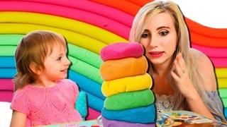 ЛЕПИМ РАДУЖНЫЕ СЛАДОСТИ из Play Doh 🌈 детское творчество, лепим из пластилина
