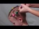 Прическа из цветных резинок Прическа в садик школу за 5 минут