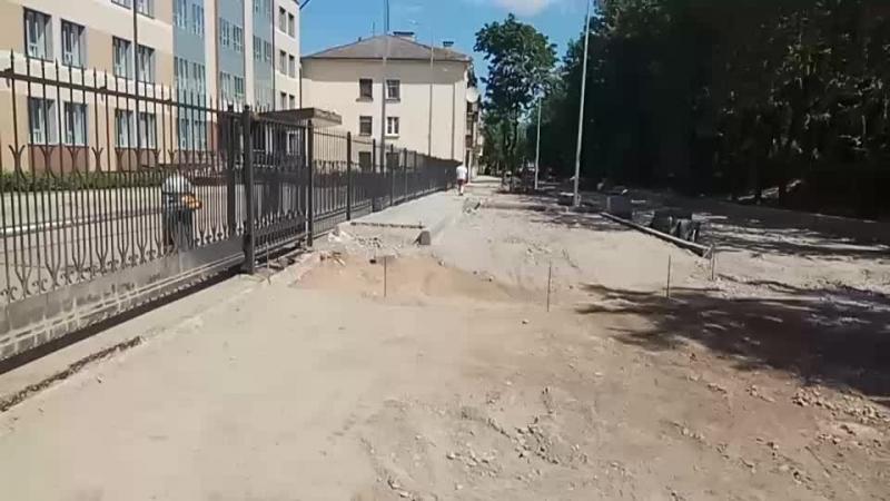 Новые тротуары на ул Свердлова