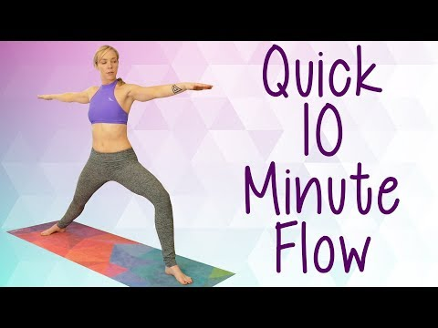 Quick Beginners Yoga Workout with Lindsey | Leg Glute Workout, Hip Flexibility