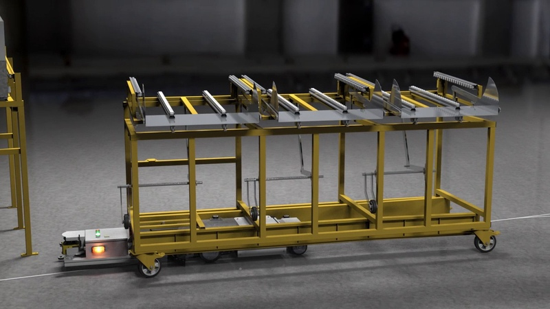 AGV - автоматическая самоходная тележка