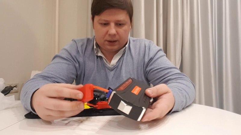 Портативный прикуриватель для машины power bank. Тестирование: запуск автомашины на морозе.